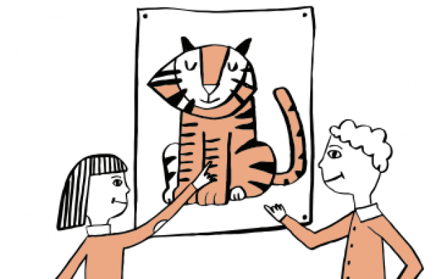 Tiger Challenge Associates Cartoon Graphic