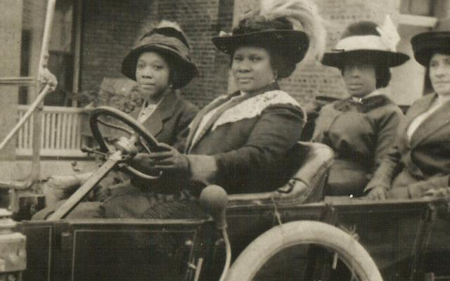 Madame C.J. Walker in an early automobile