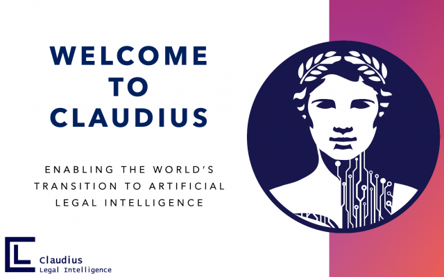 Claudius Legal Intelligence title and logo