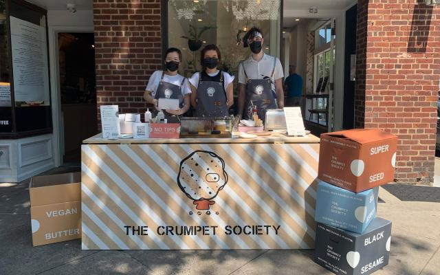 The Crumpet Society at their event booth in Princeton