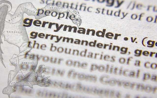 gerrymandering dictionary listing with gerrymandering image
