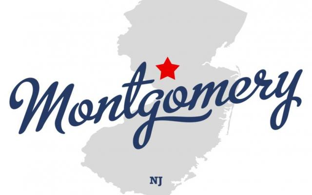 Map of New Jersey with Montgomery Township starred